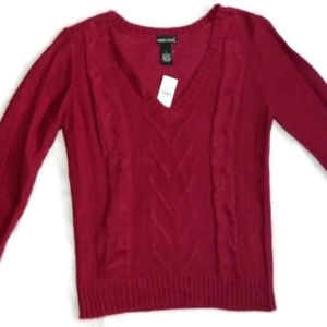 Wet Seal Red Sweater. NWT. Large